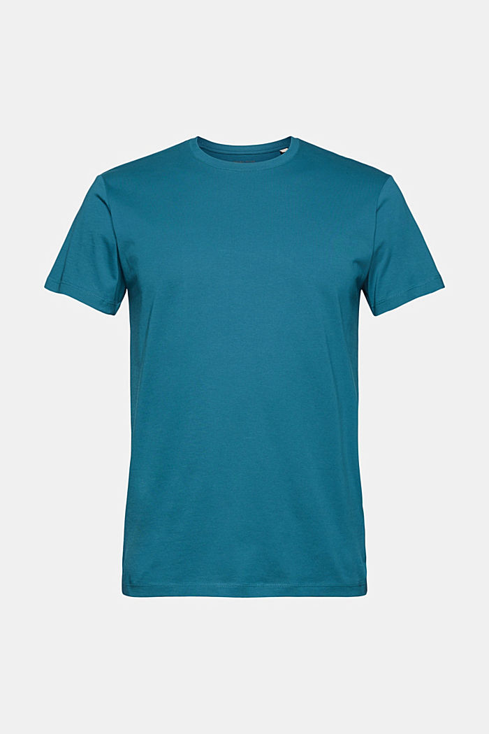 Jersey T-shirt van 100% biologisch katoen, PETROL BLUE, detail image number 5