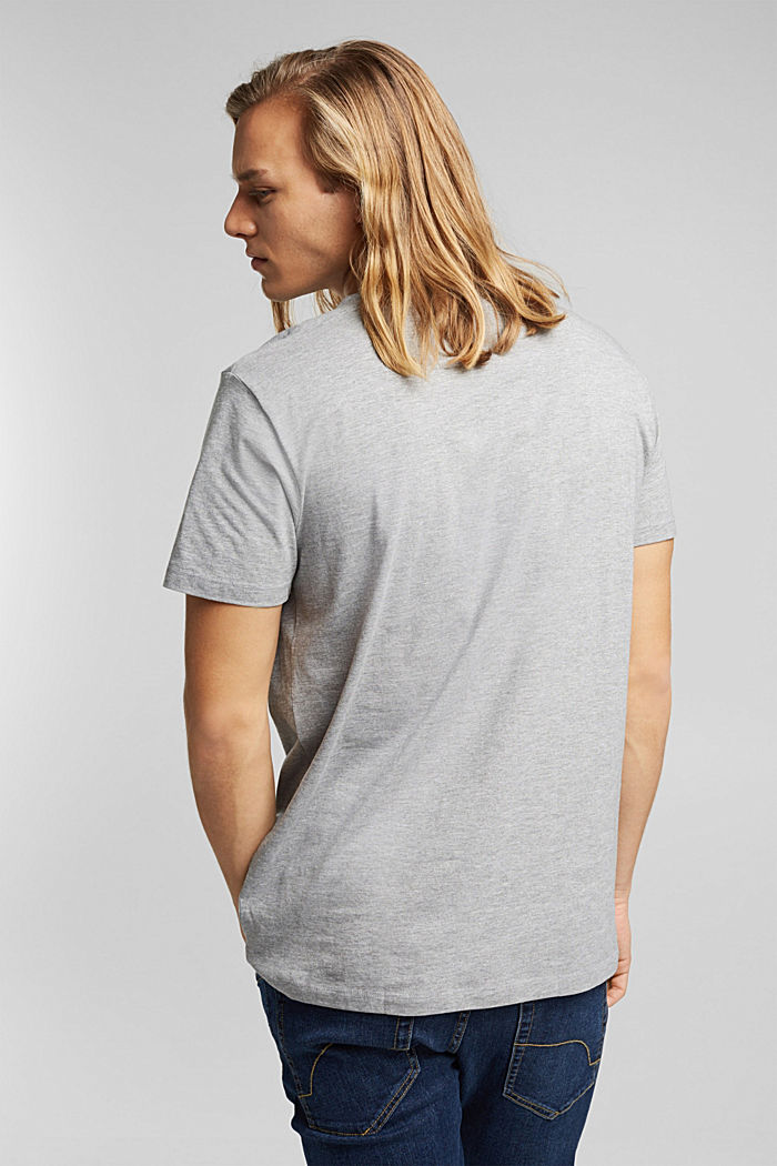 Jersey-T-Shirt, Bio-Baumwolle/LENZING™ ECOVERO™, MEDIUM GREY, detail image number 3