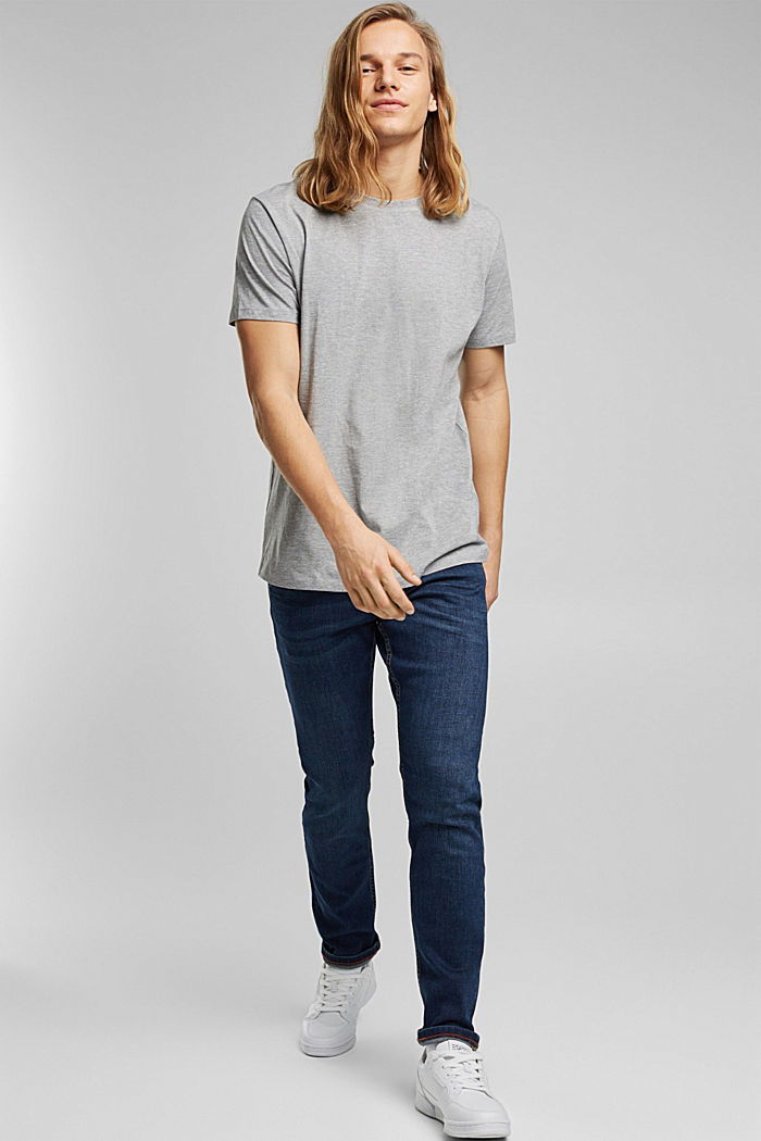 Jersey-T-Shirt, Bio-Baumwolle/LENZING™ ECOVERO™, MEDIUM GREY, detail image number 2