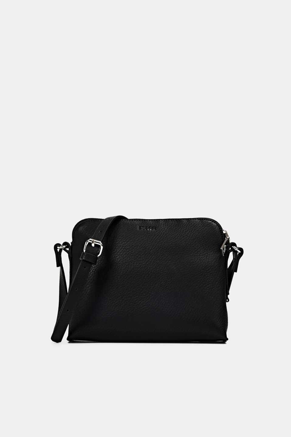 Esprit - Vegan: Schultertasche in Leder-Optik