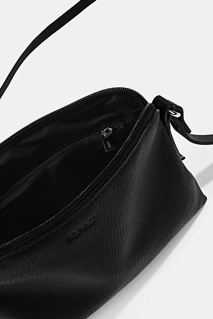 Vegan: Schultertasche in Leder-Optik, BLACK, detail image number 4