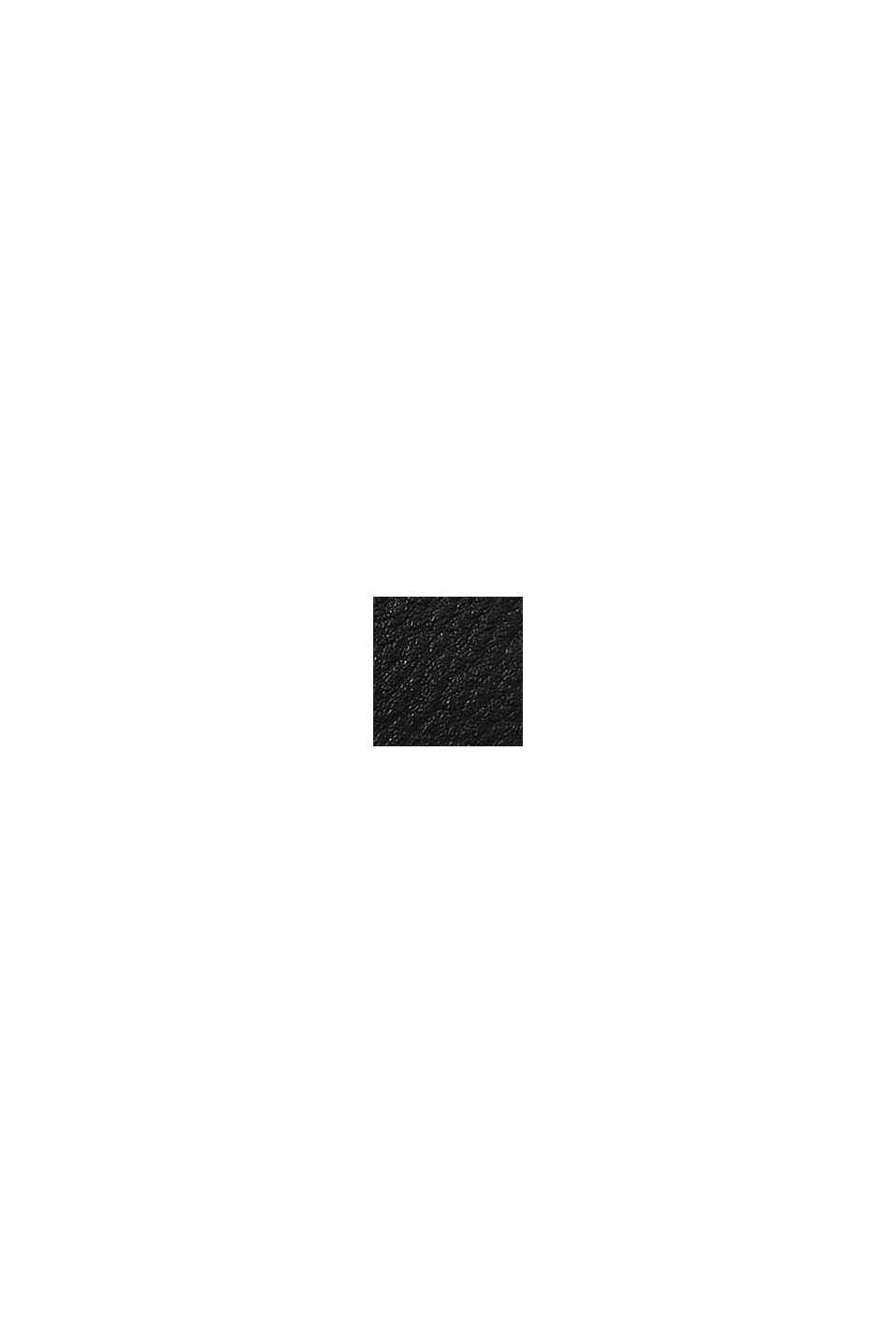 Vegan: faux leather shoulder bag, BLACK, swatch