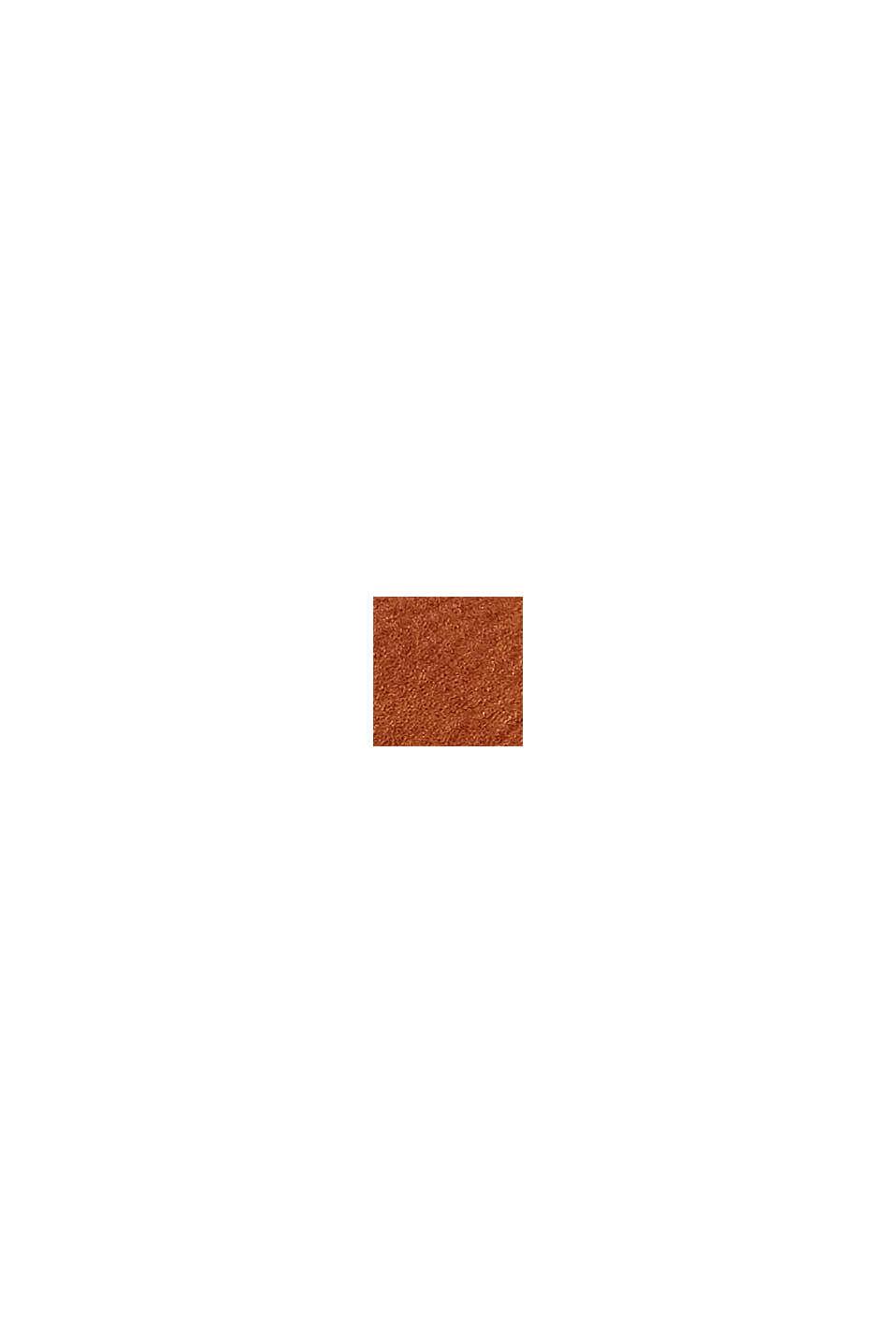 Vegan: faux leather shoulder bag, RUST BROWN, swatch
