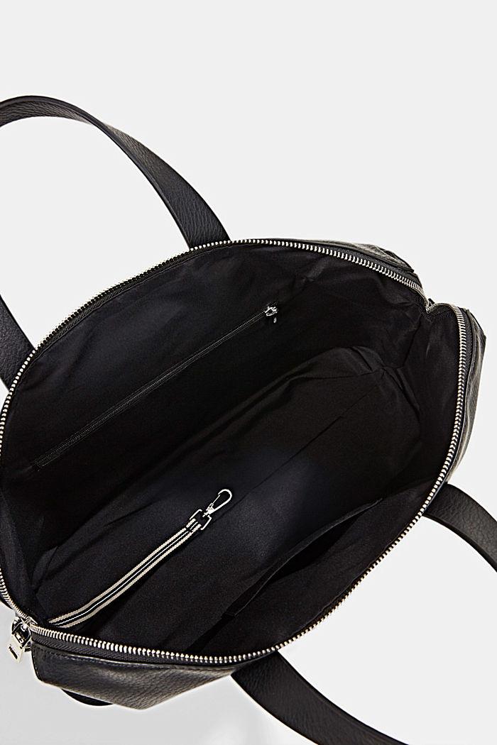 Bolso bandolera de polipiel, BLACK, detail image number 4