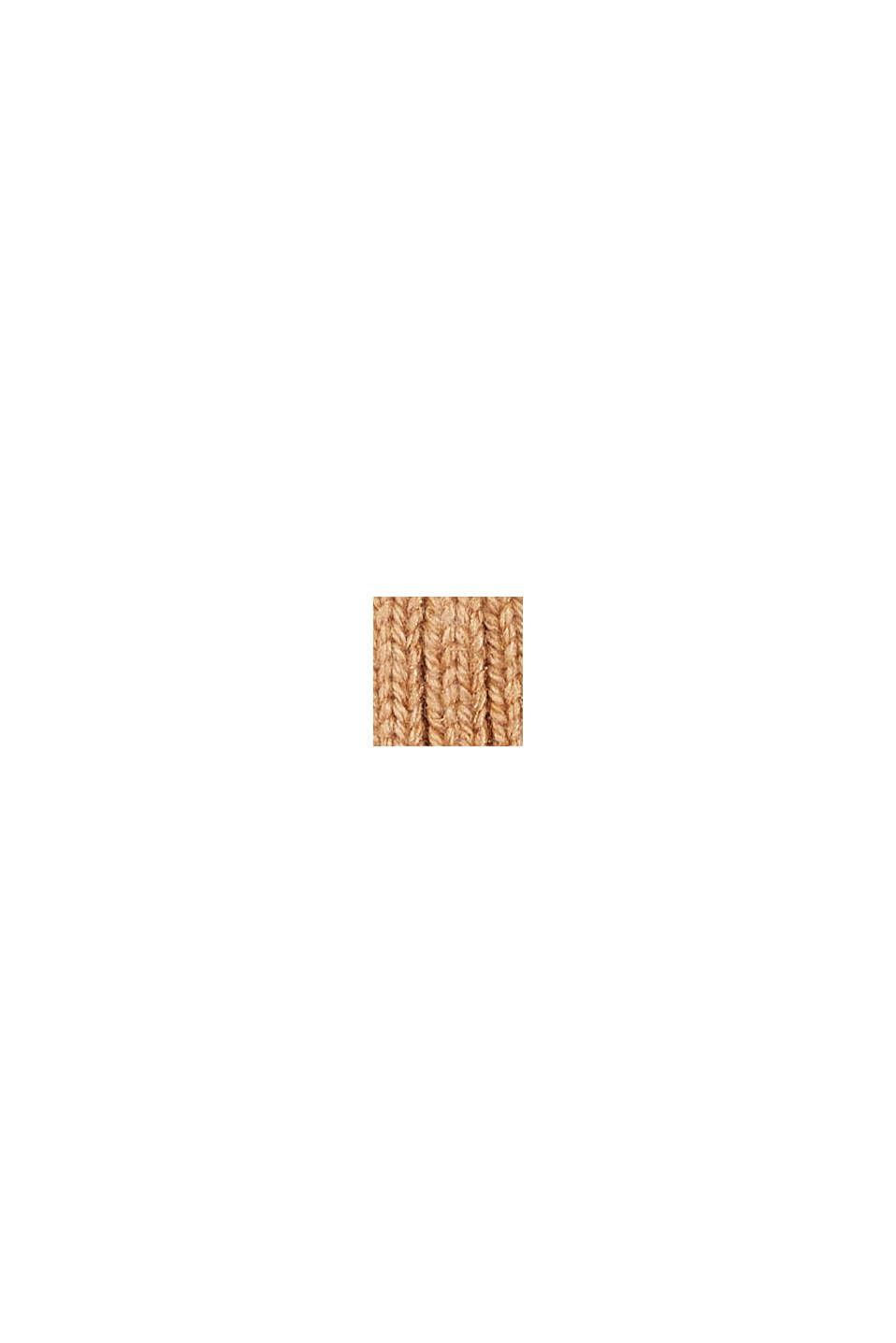 En matière recyclée: le bonnet en laine mélangée, CARAMEL, swatch