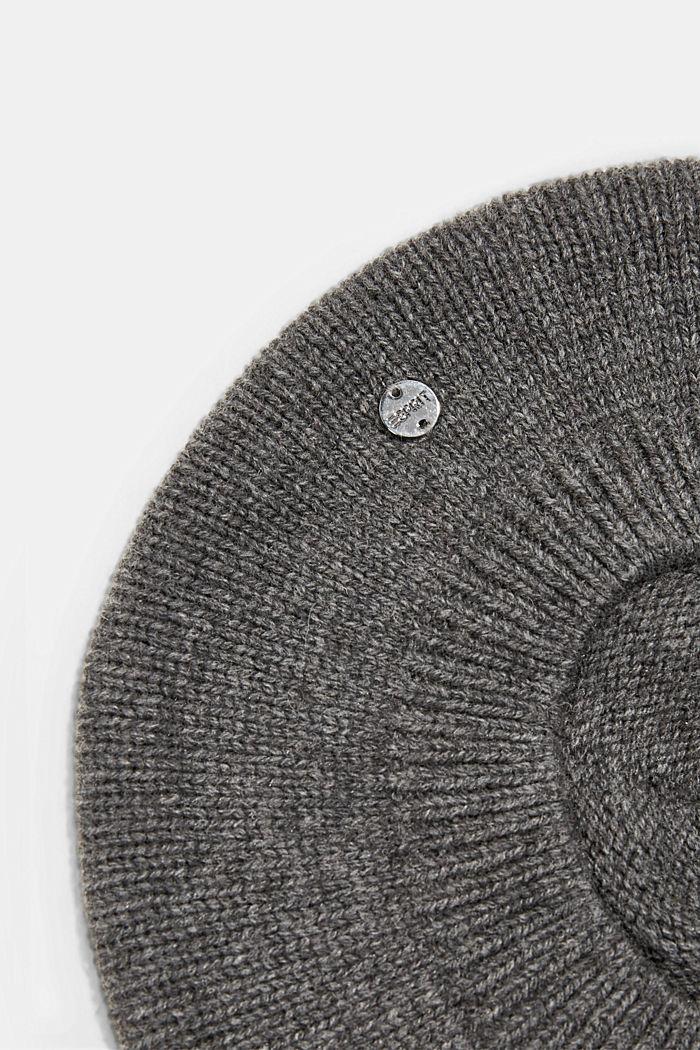 Reciclada: boina en mezcla de lana, DARK GREY, detail image number 1