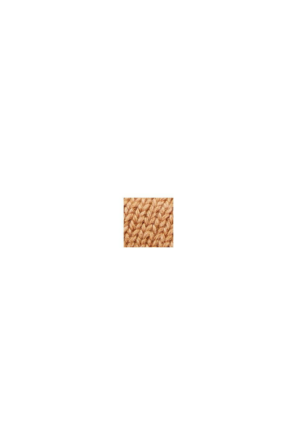 En matière recyclée: béret basque en laine mélangée, CARAMEL, swatch