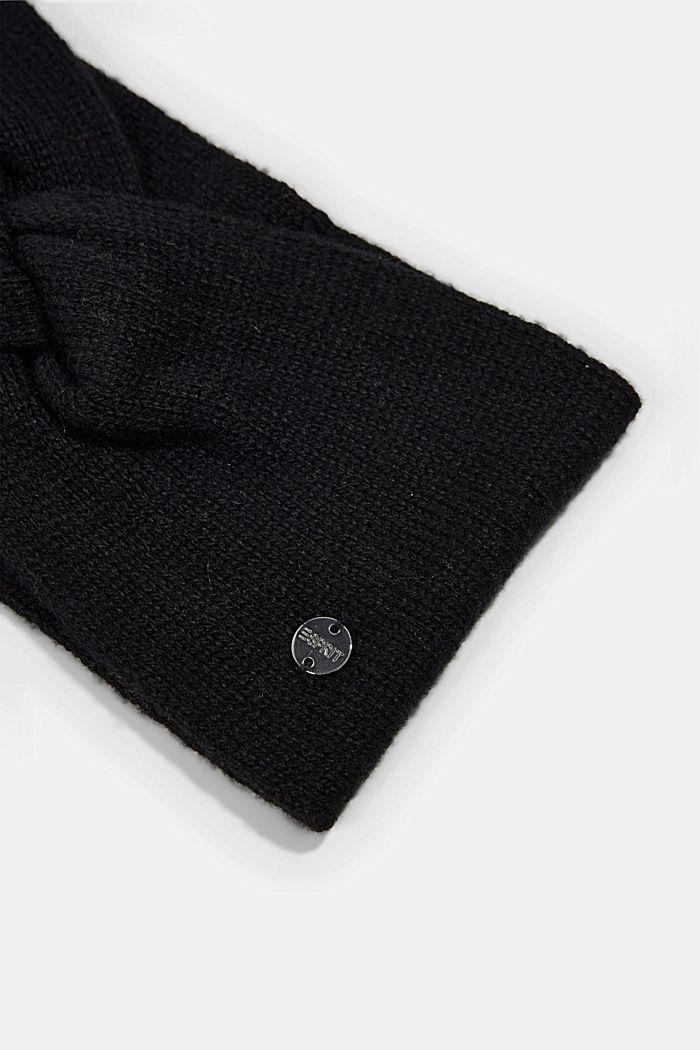 Reciclada: cinta de punto en mezcla de lana., BLACK, detail image number 1