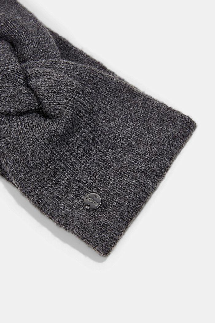 Reciclada: cinta de punto en mezcla de lana., DARK GREY, detail image number 1