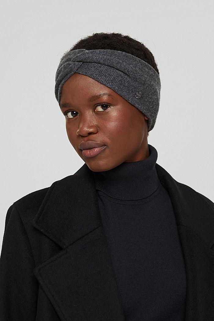 Recyclé: le bandeau en maille de laine mélangée