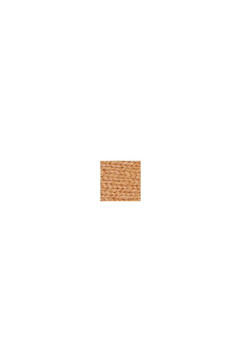 Recyclé: le bandeau en maille de laine mélangée, CARAMEL, swatch
