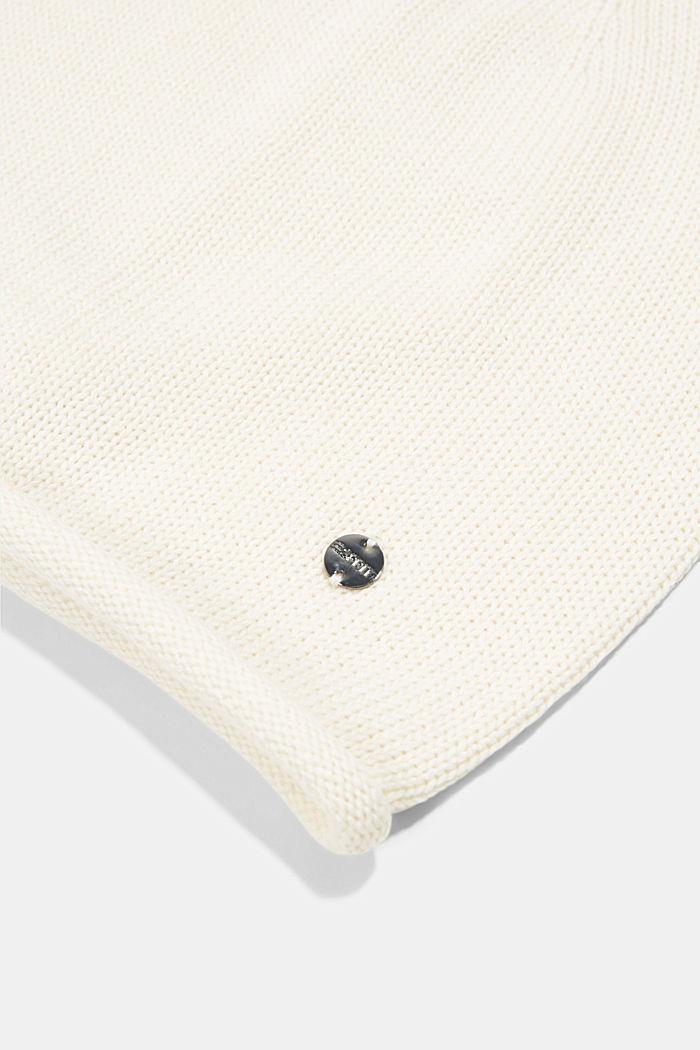 Beanie in 100% cotton, CREAM BEIGE, detail image number 1