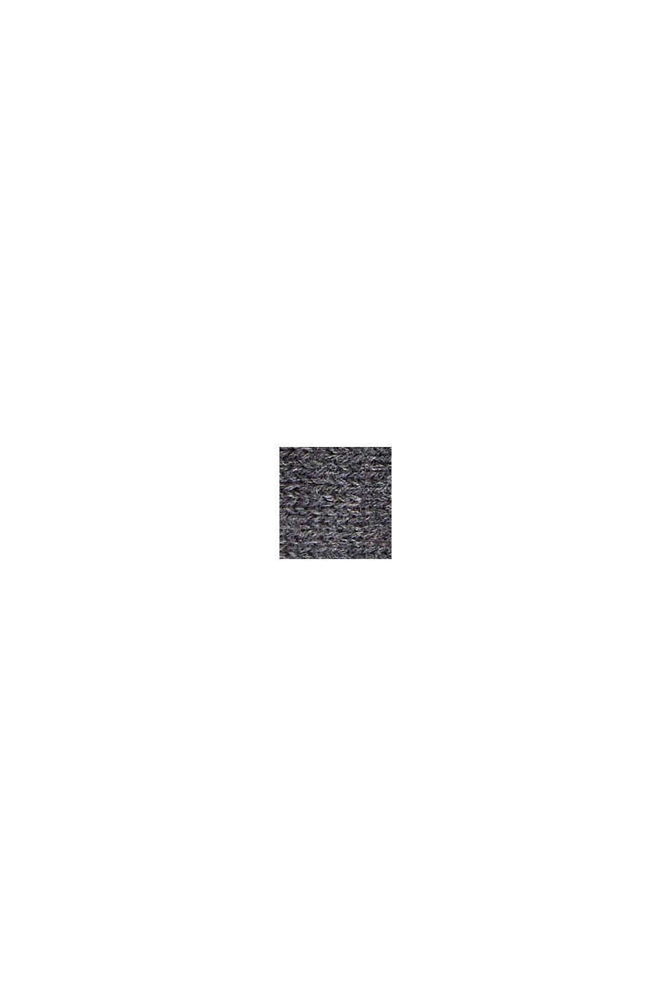 Bandeau en maille 100% coton, DARK GREY, swatch