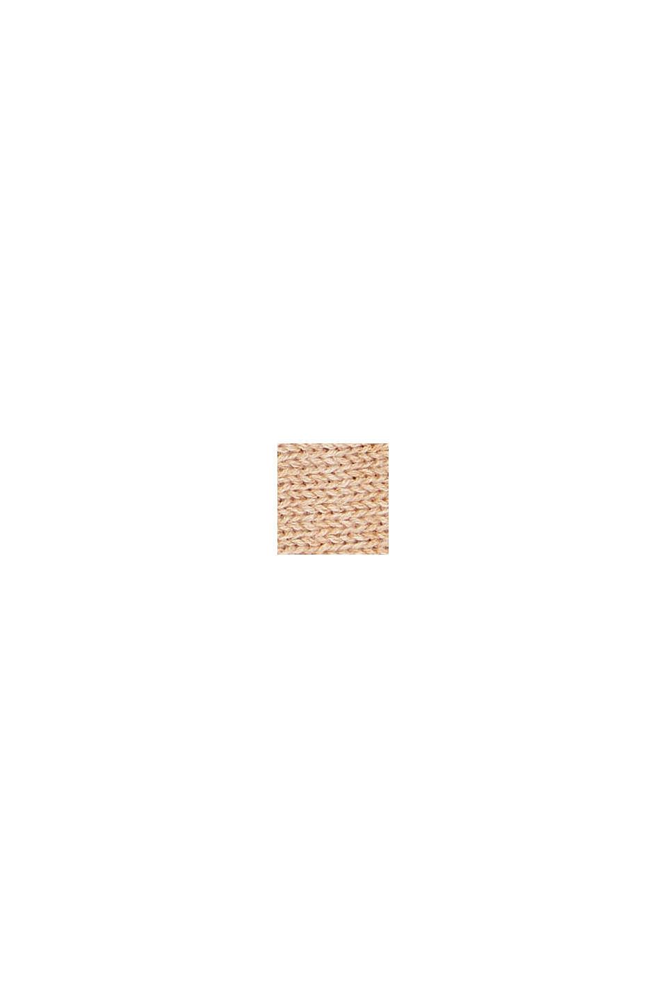 Bandeau en maille 100% coton, CARAMEL, swatch