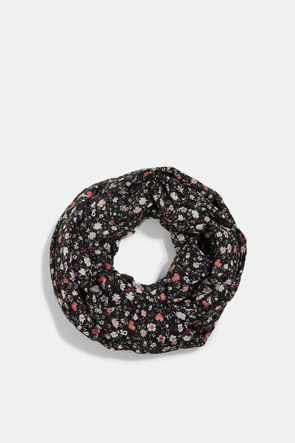 Esprit - Recycled: snood scarf with a floral print