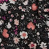Gerecycled: met bloemenprint, BLACK, swatch