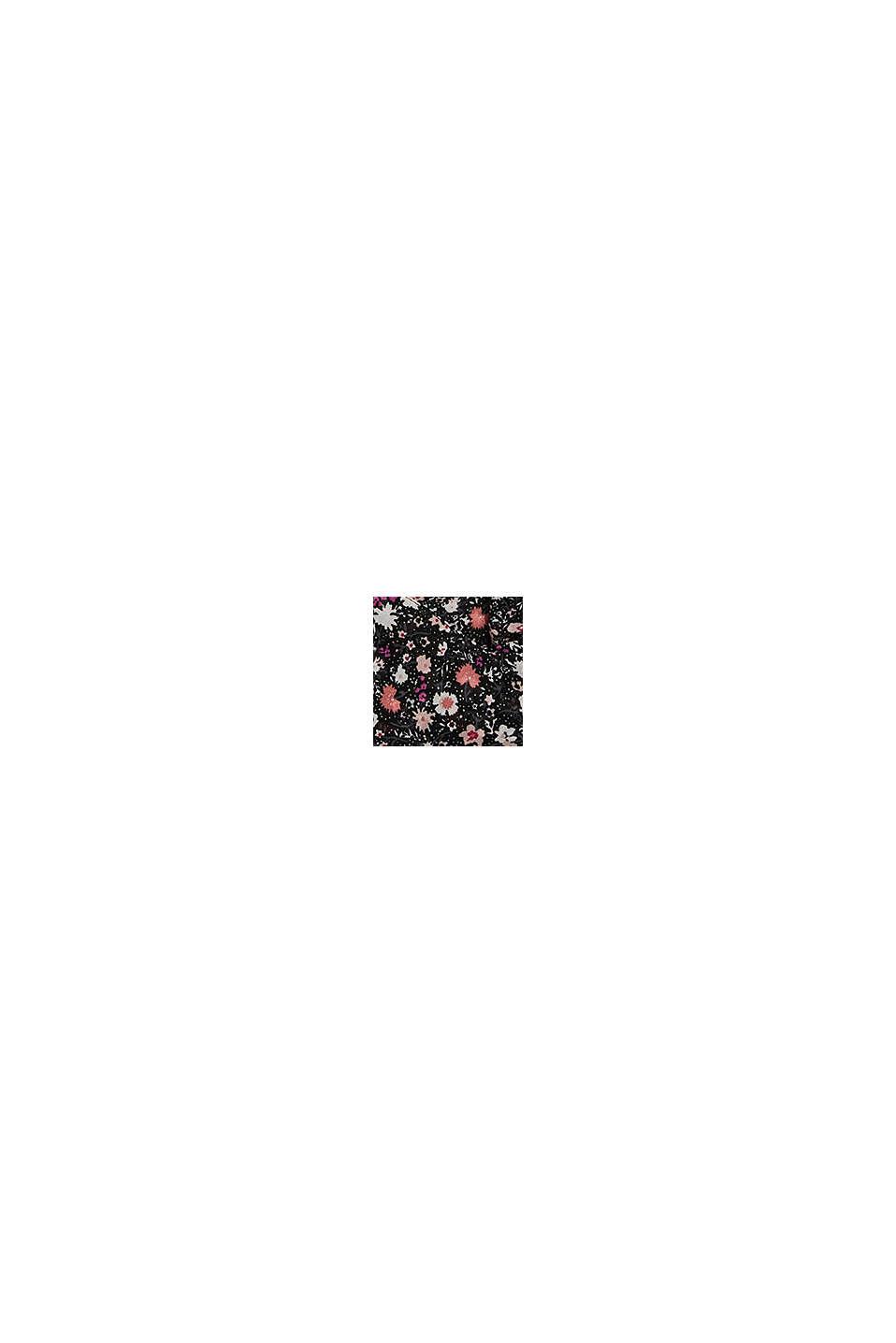 Recycelt: Loop-Schal mit Blumen-Print, BLACK, swatch