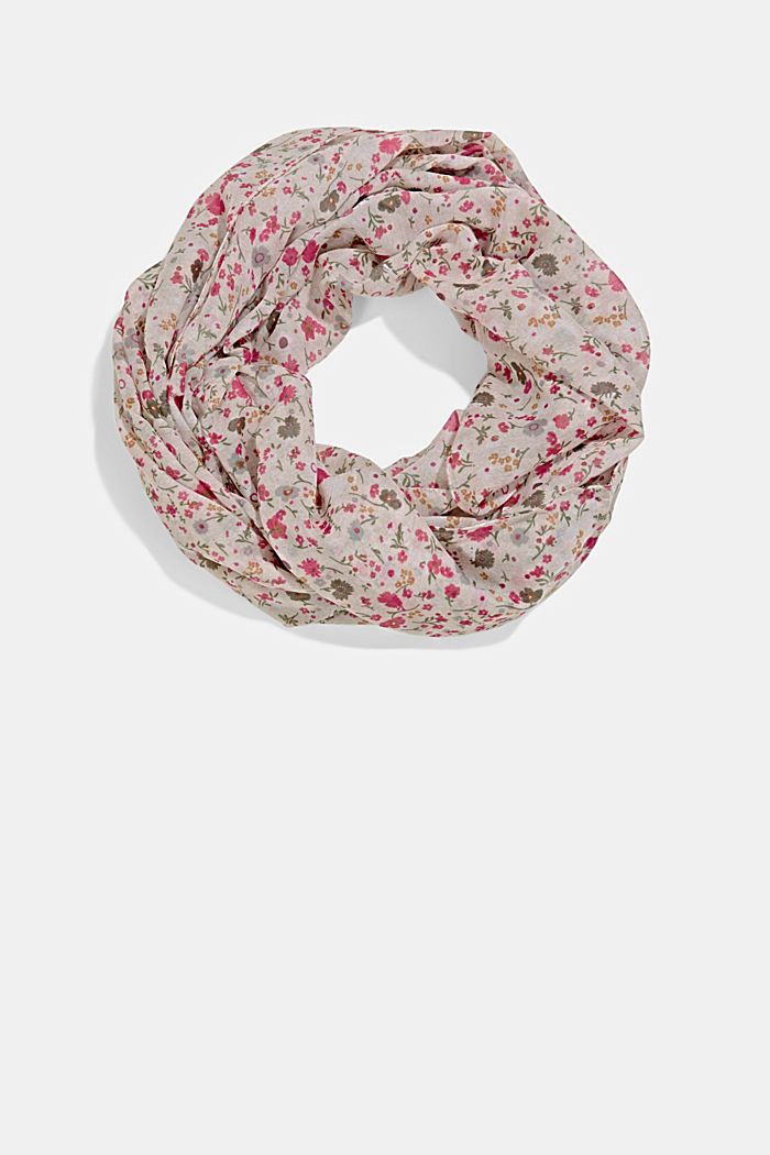 Recycled: snood scarf with a floral print