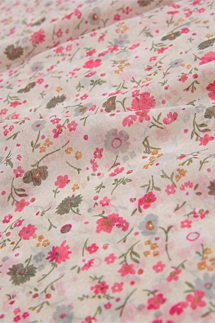 Gerecycled: met bloemenprint, CREAM BEIGE, detail image number 2