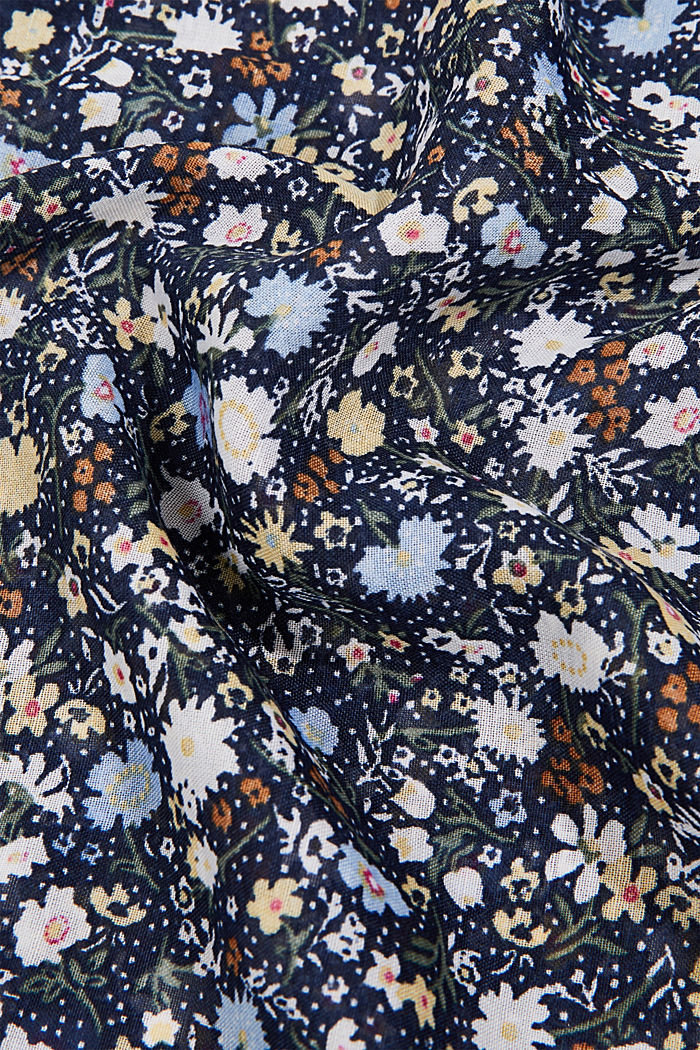 Recycled: snood scarf with a floral print, NAVY, detail image number 2