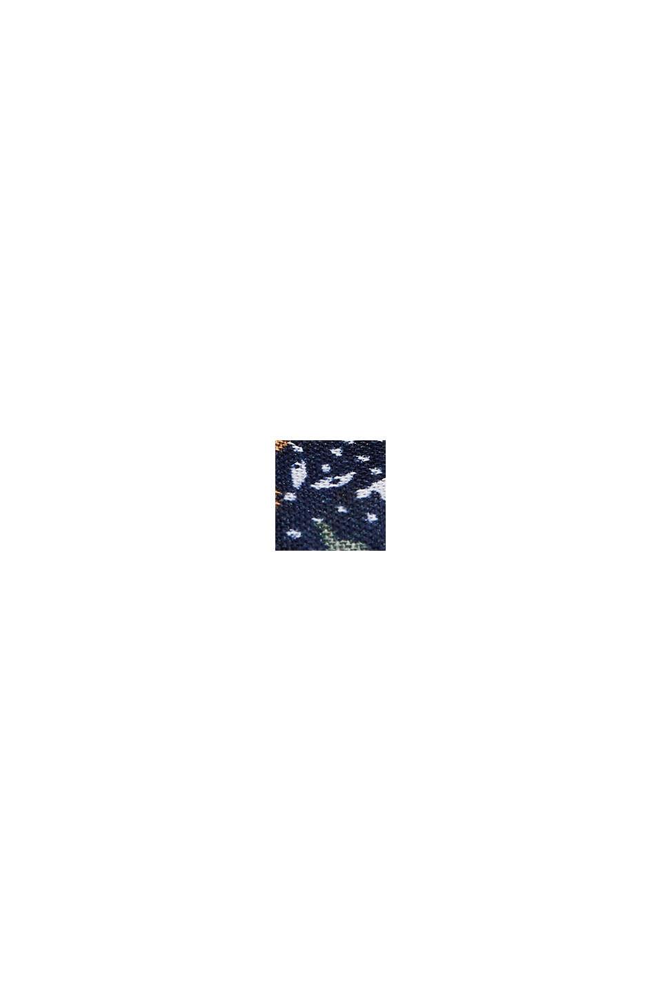 Recycelt: Loop-Schal mit Blumen-Print, NAVY, swatch