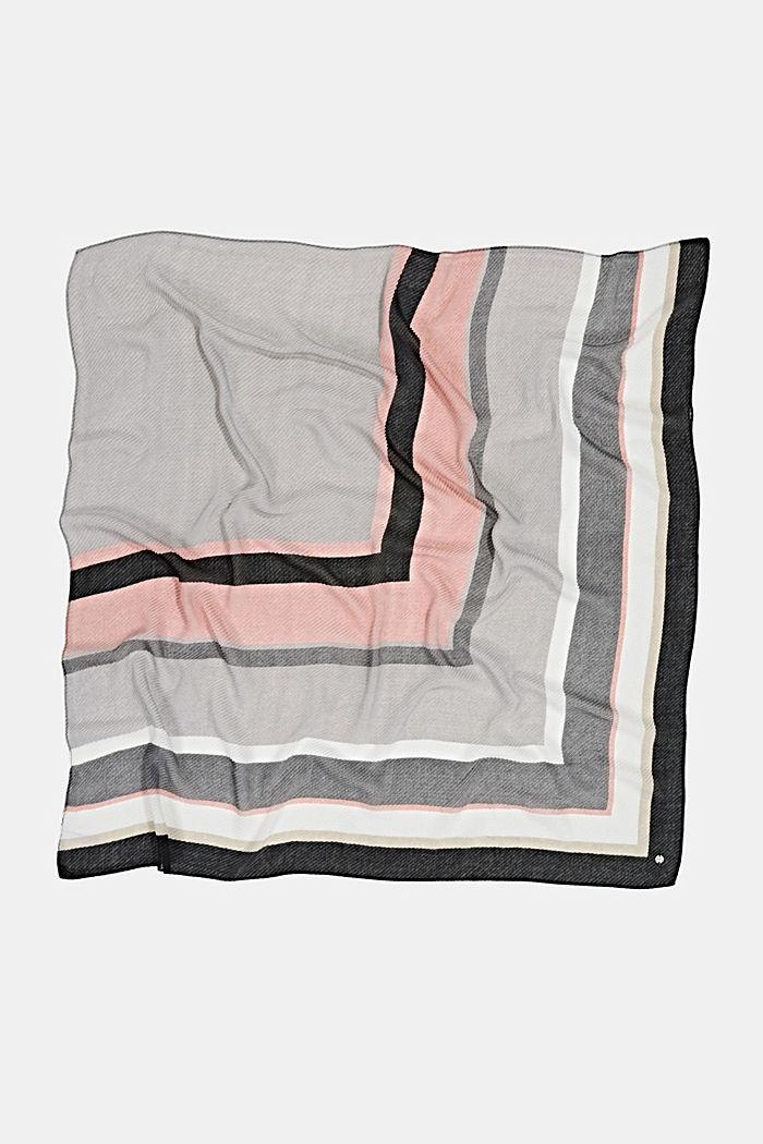 Plissee-Tuch mit Streifen, GREY, detail image number 3