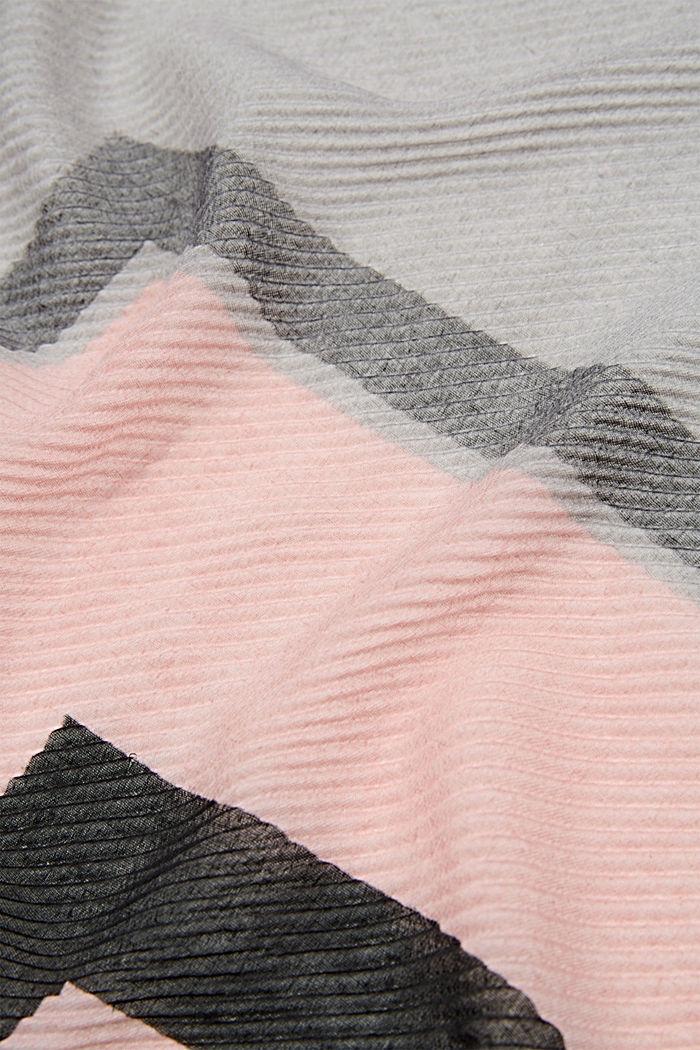 Plissee-Tuch mit Streifen, GREY, detail image number 2