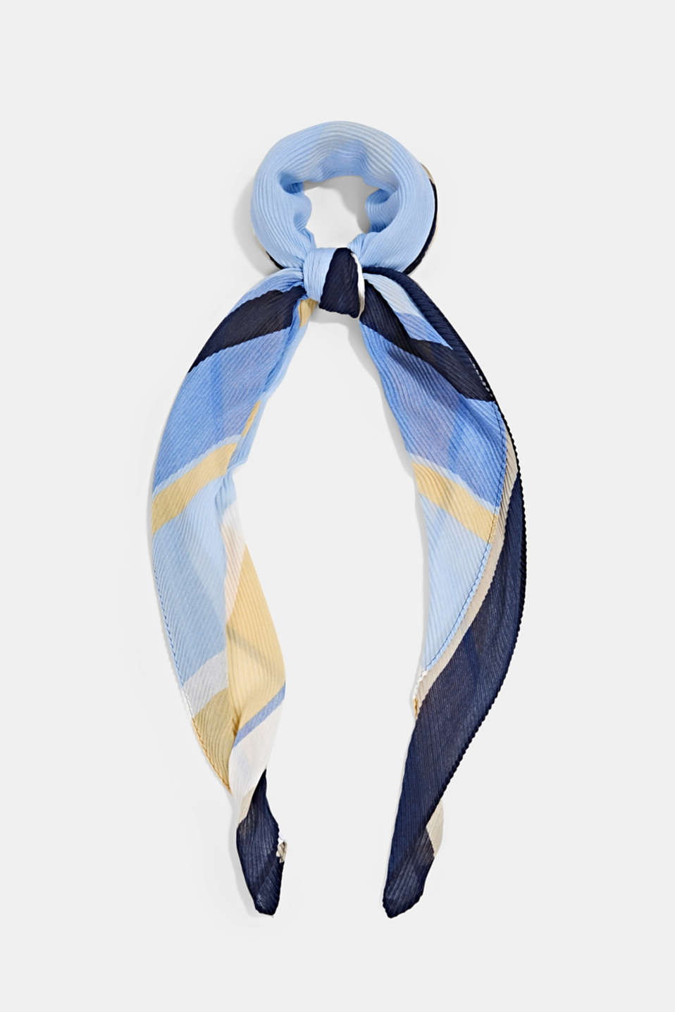 Esprit - Pleated scarf with stripes
