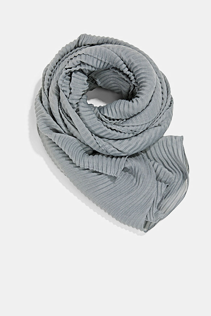 Scarf with accordion pleats, GREY, detail image number 0