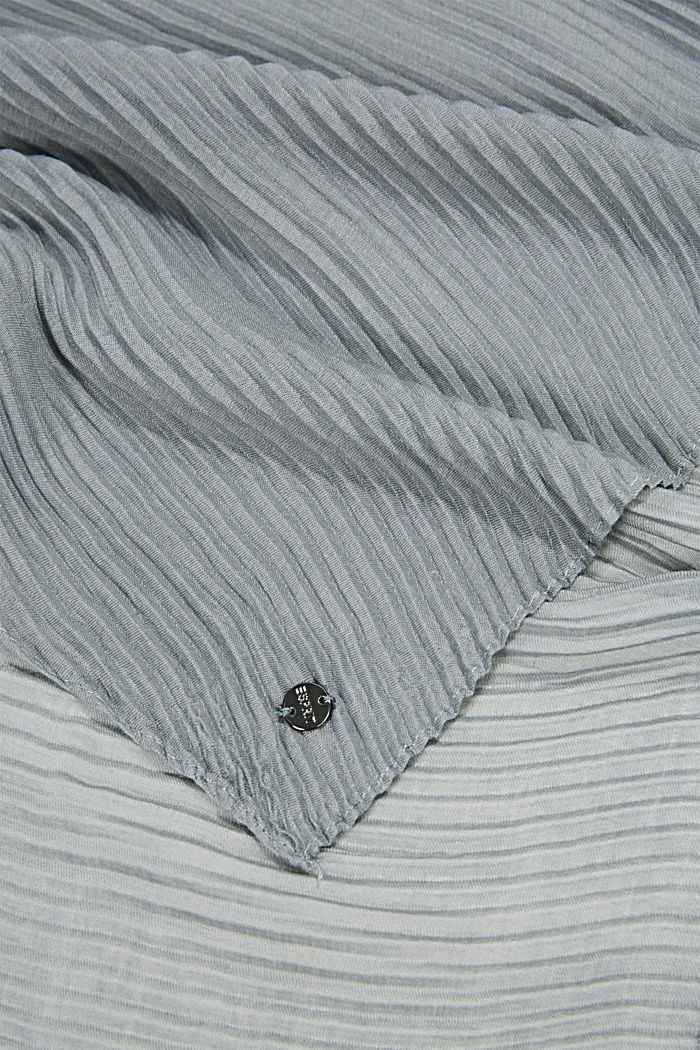 Scarf with accordion pleats, GREY, detail image number 2