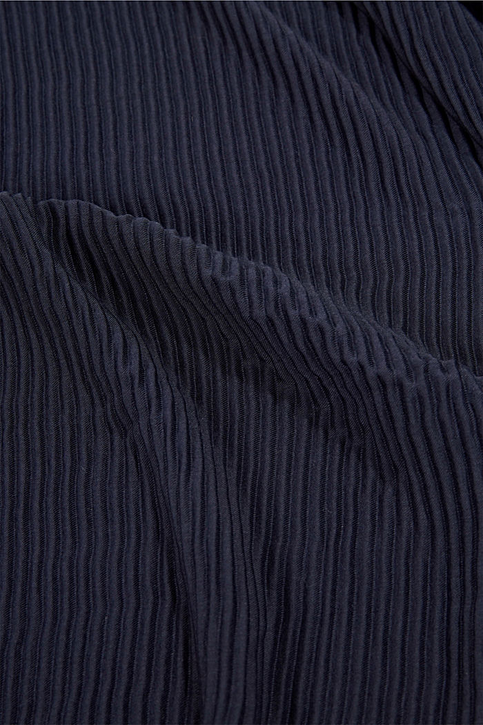 Scarf with accordion pleats, NAVY, detail image number 2
