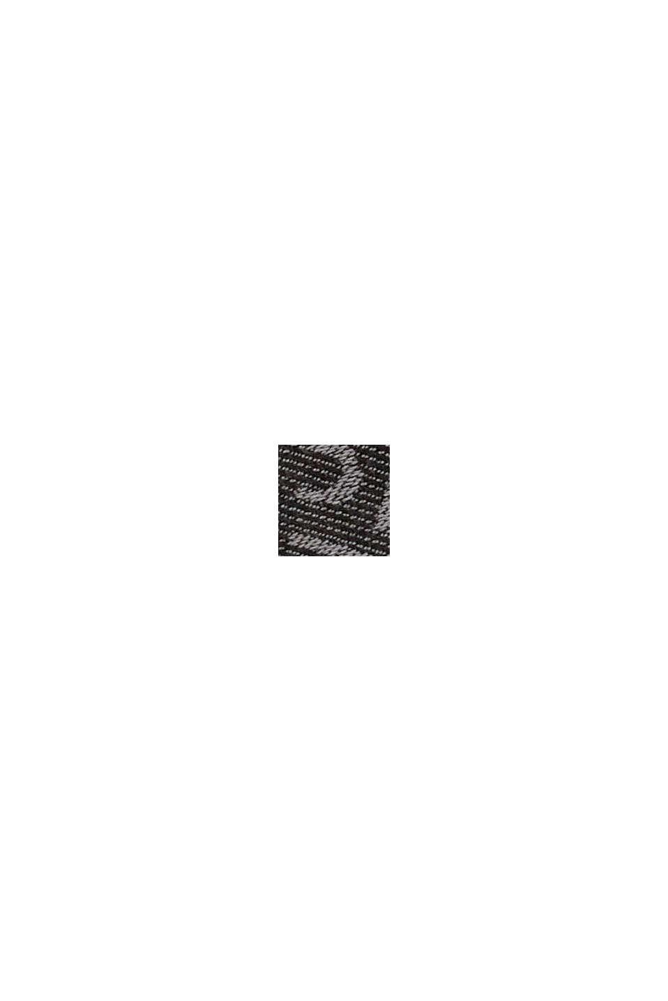 Schal mit Monogramm, 100% Baumwolle, BLACK, swatch