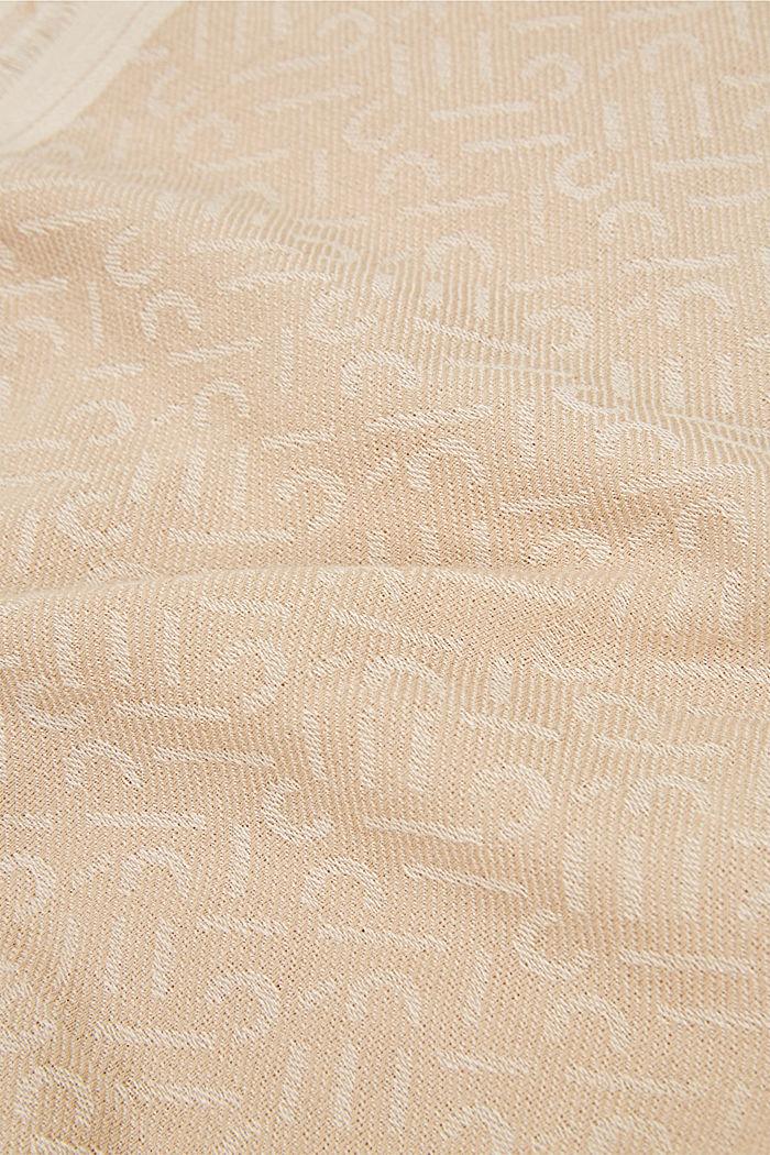 Schal mit Monogramm, 100% Baumwolle, SAND, detail image number 2