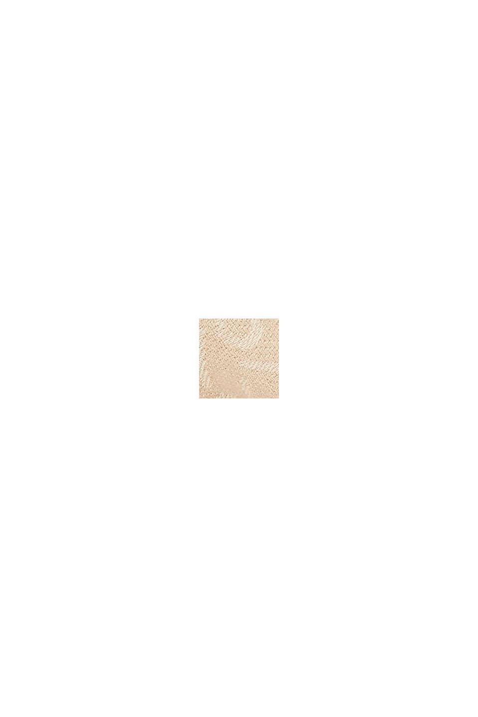 Schal mit Monogramm, 100% Baumwolle, SAND, swatch