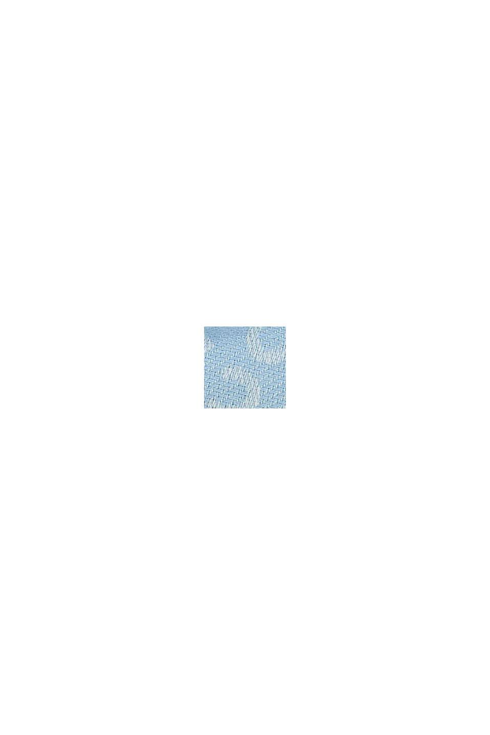 Écharpe à monogramme, 100% coton, LIGHT BLUE, swatch