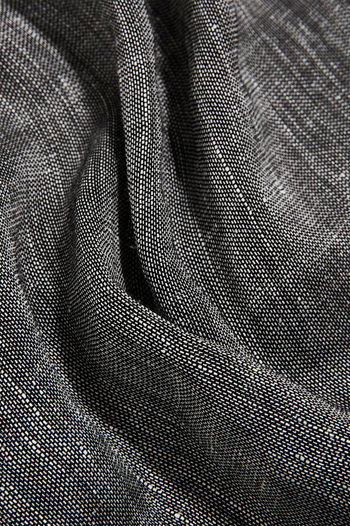 Van een linnenmix: fijne colsjaal, BLACK, detail image number 2