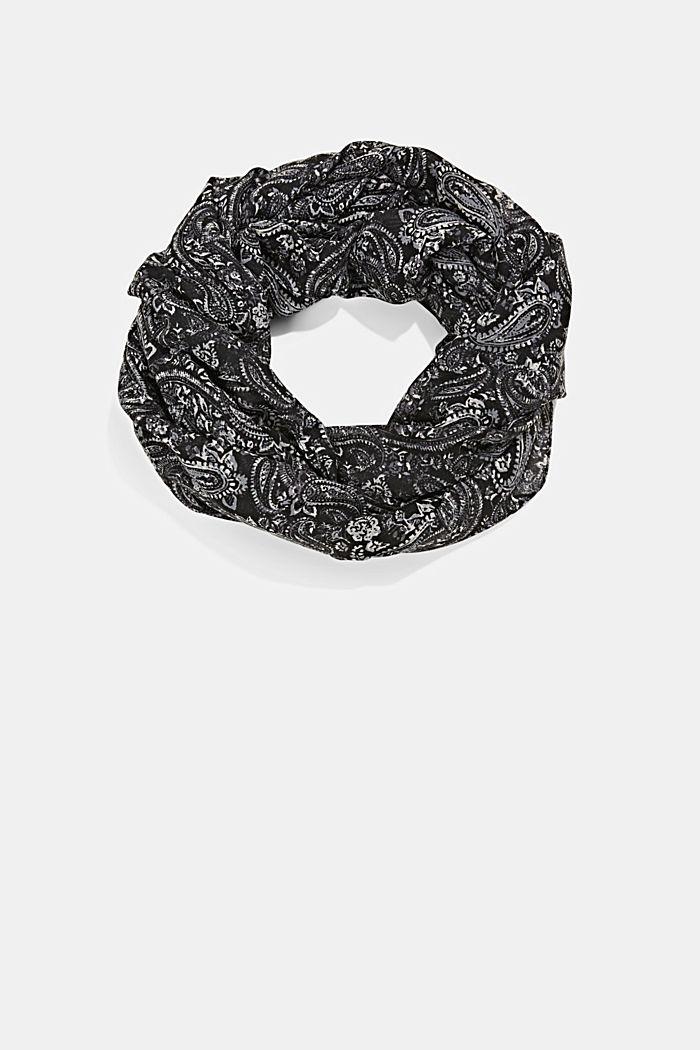 Recycelt: Loop-Schal mit Paisley-Muster