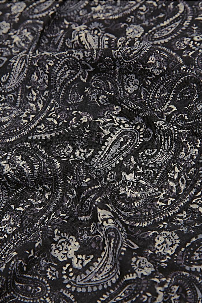 Reciclado: cuello con diseño paisley, BLACK, detail image number 2