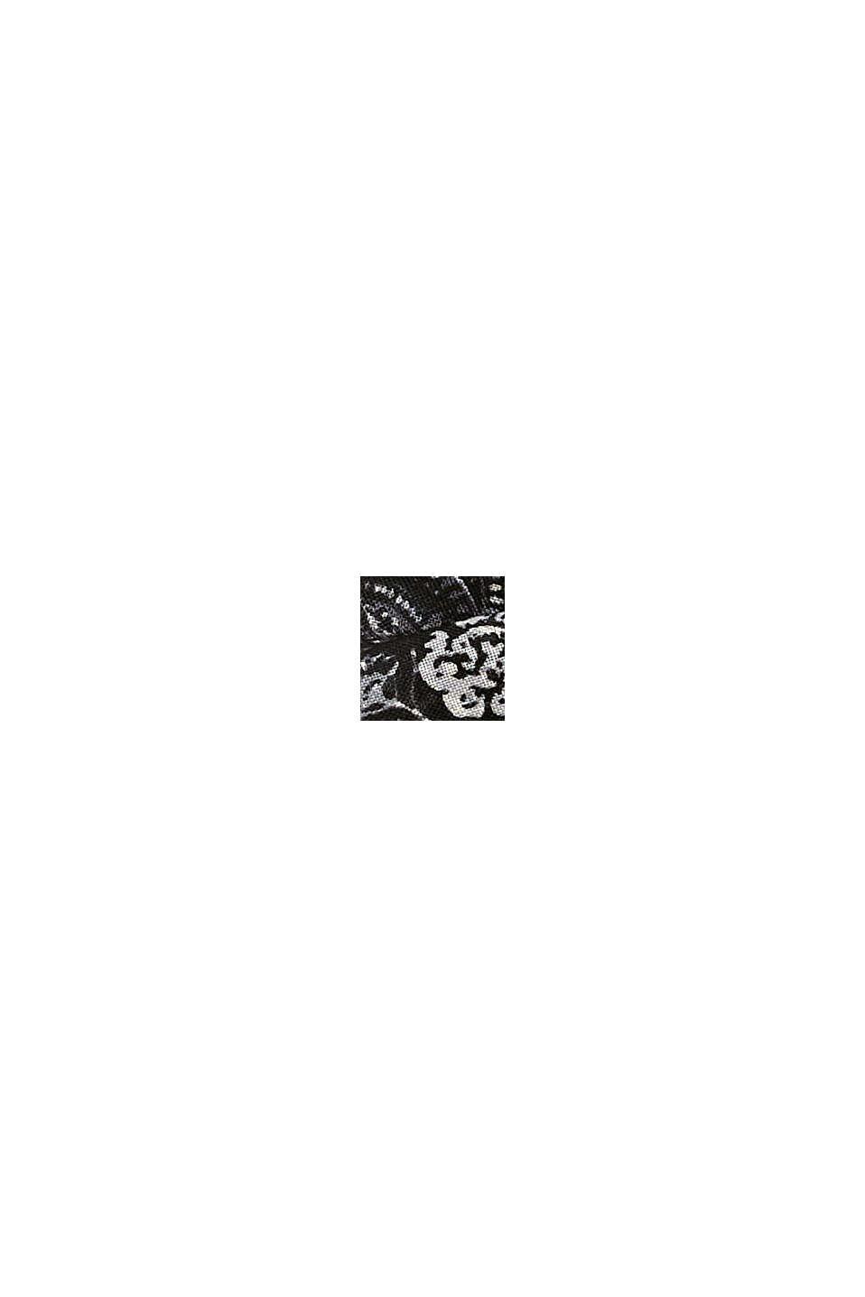 Recycelt: Loop-Schal mit Paisley-Muster, BLACK, swatch