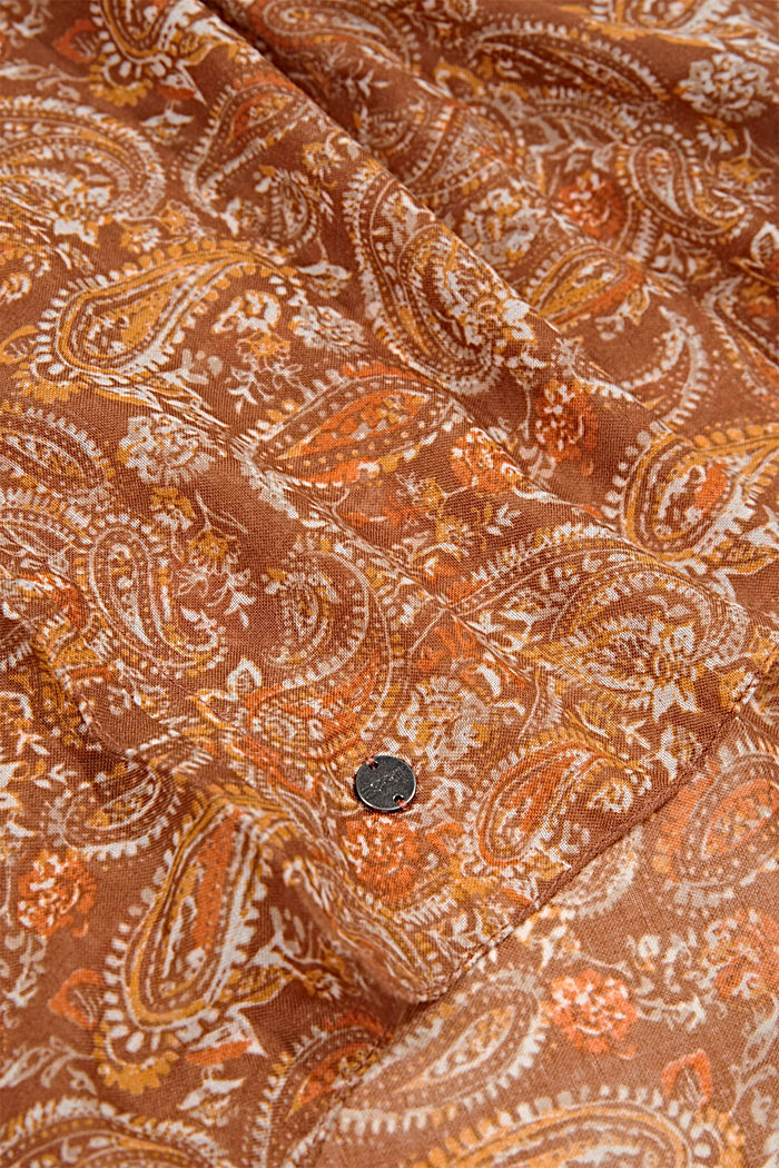 Recycelt: Loop-Schal mit Paisley-Muster, CARAMEL, detail image number 2
