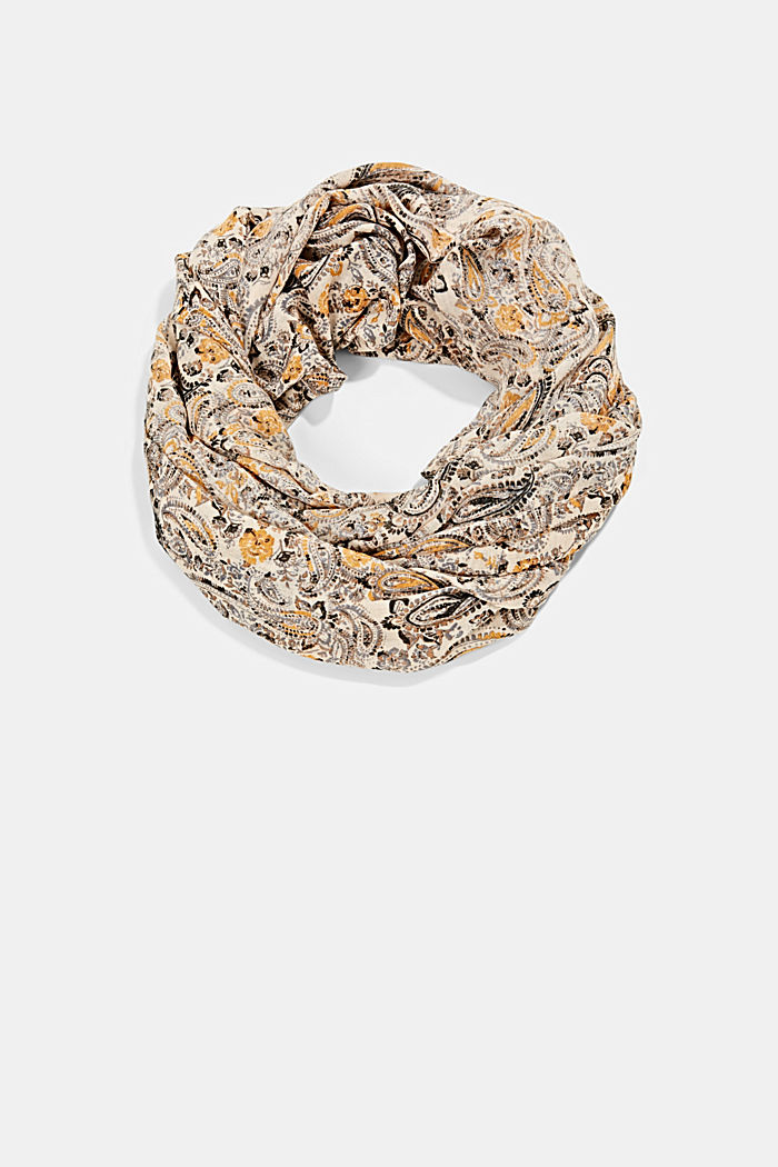 Recycled: paisley snood, CREAM BEIGE, detail image number 0