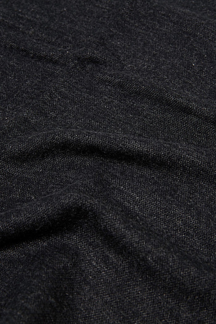 Sciarpa double face in misto cotone, BLACK, detail image number 2