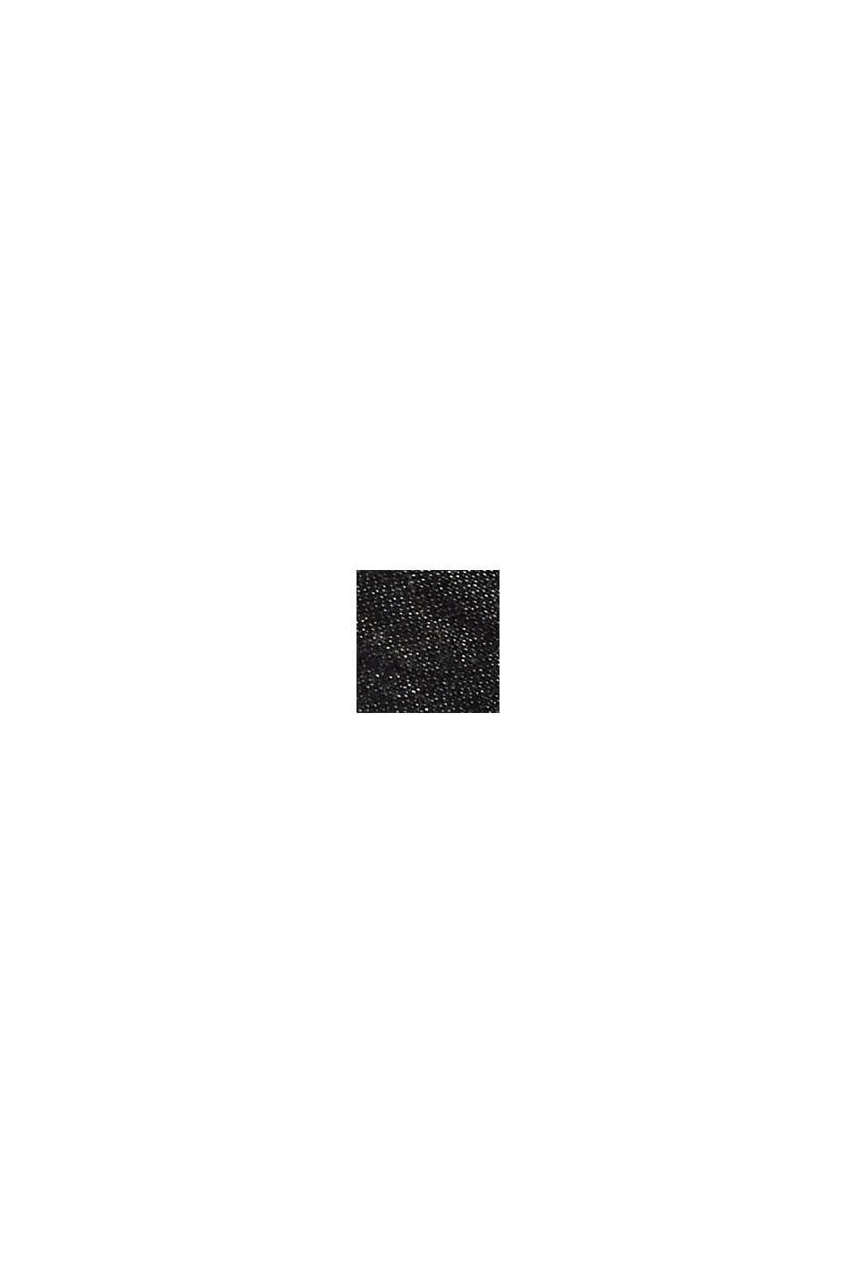 Écharpe double face en coton mélangé, BLACK, swatch