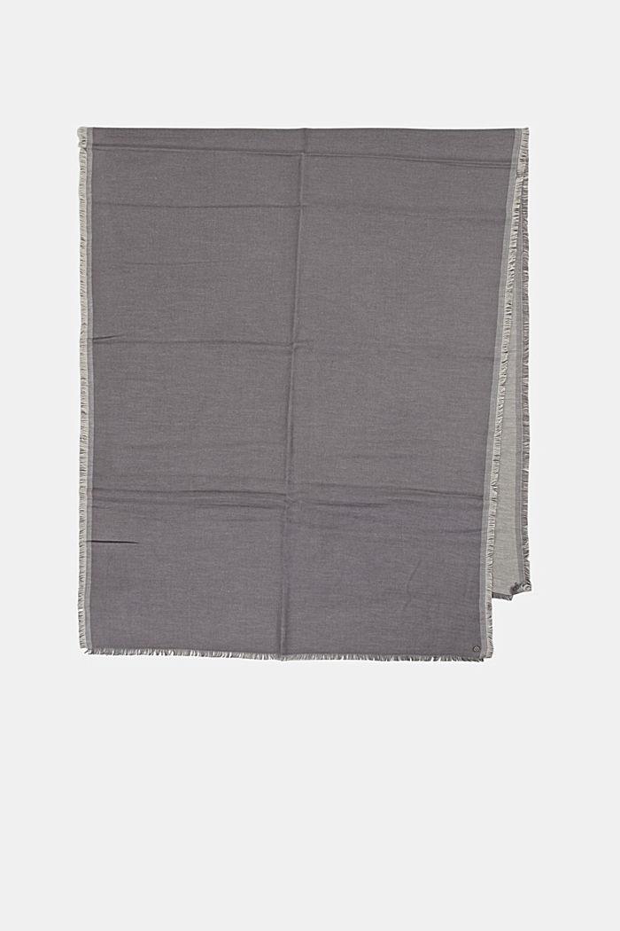 Double face sjaal van een katoenmix, DARK GREY, detail image number 4