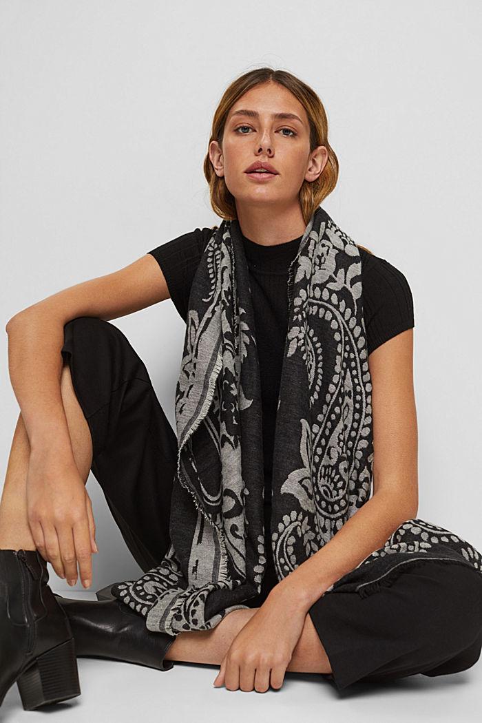 Schal mit Paisley-Muster aus Baumwoll-Mix