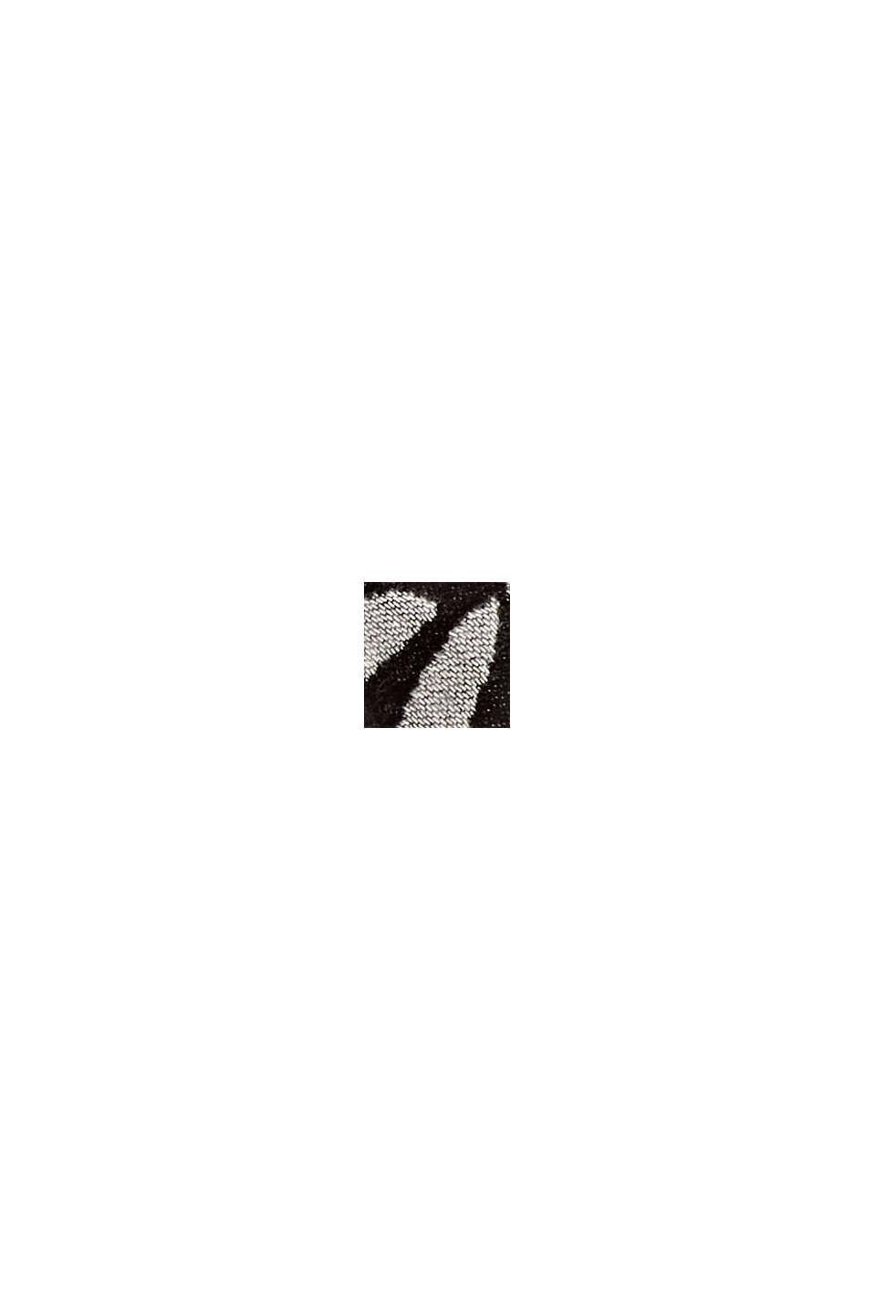 Écharpe à motif cachemire en coton mélangé, BLACK, swatch