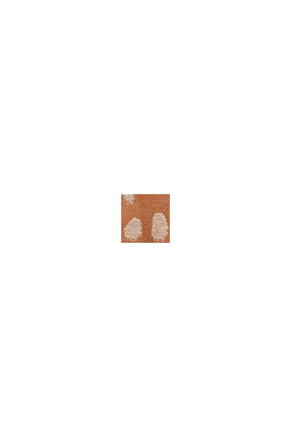 Écharpe à motif cachemire en coton mélangé, CARAMEL, swatch