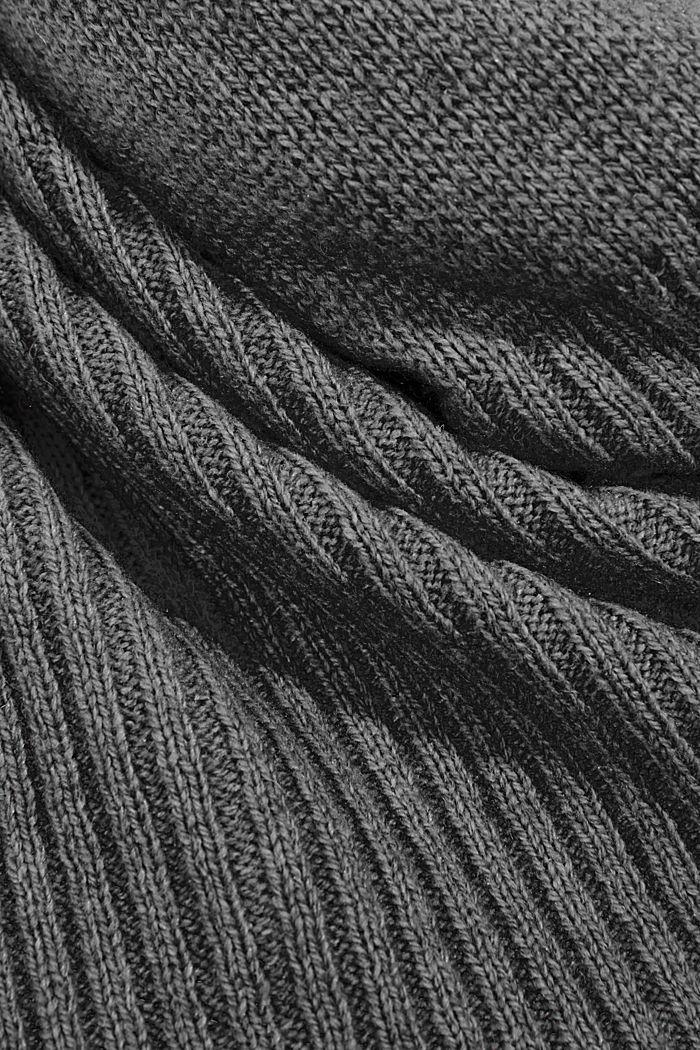 En matière recyclée: l'écharpe en laine mélangée, DARK GREY, detail image number 2
