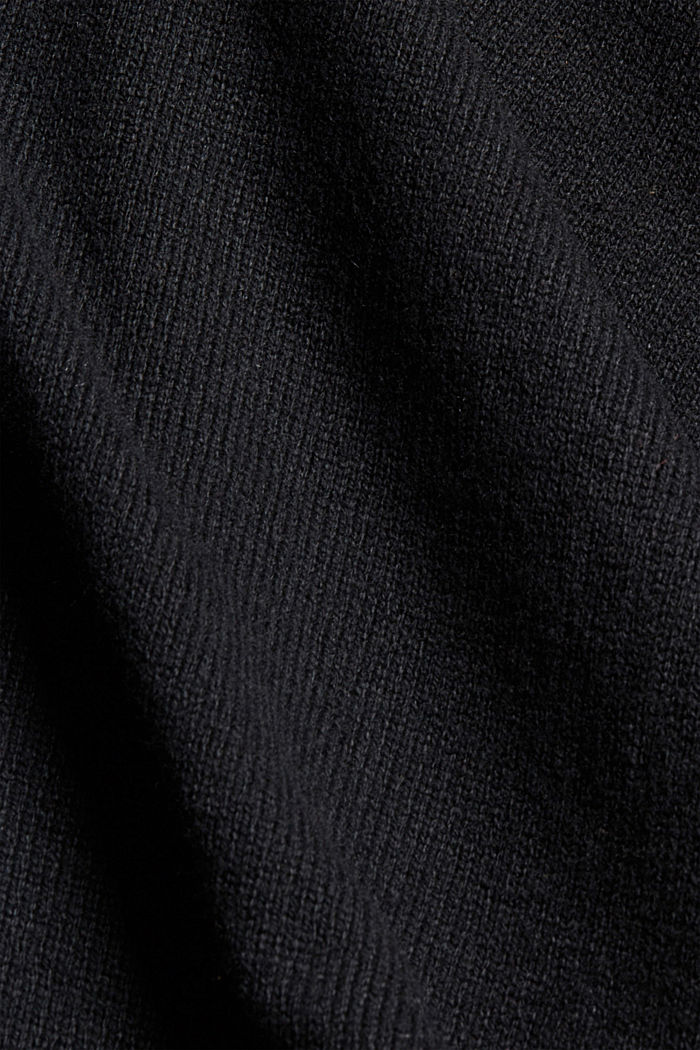 Recycled: blended wool poncho, BLACK, detail image number 2