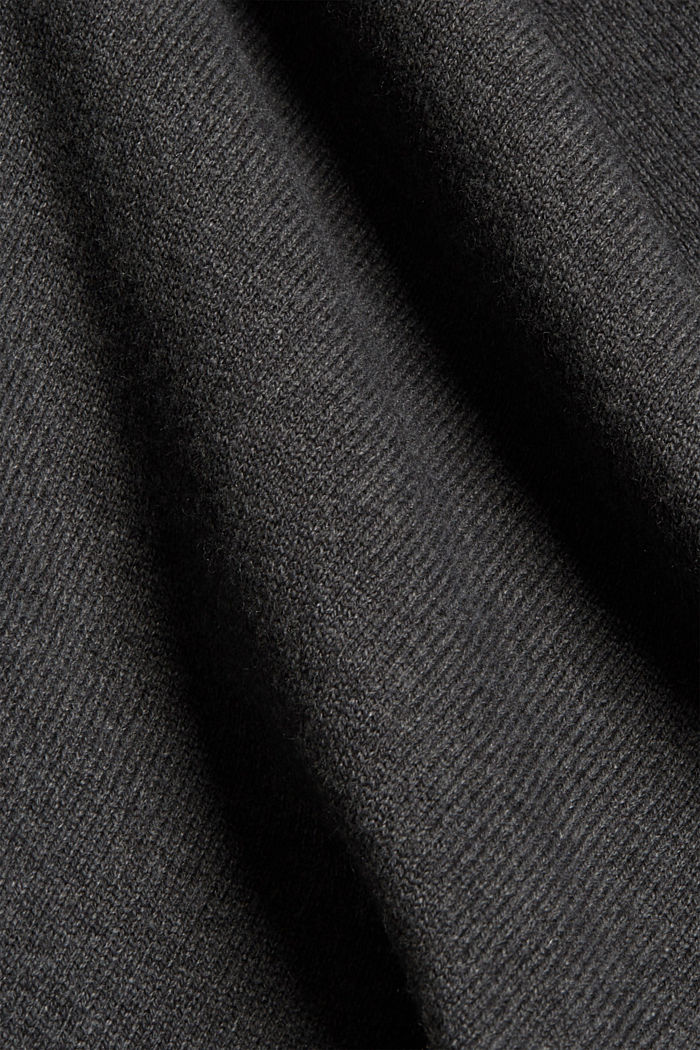 Recycled: blended wool poncho, DARK GREY, detail image number 2